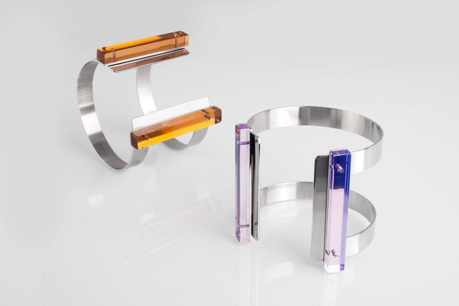 TECHNIC / bracelets / double – 2 perspex