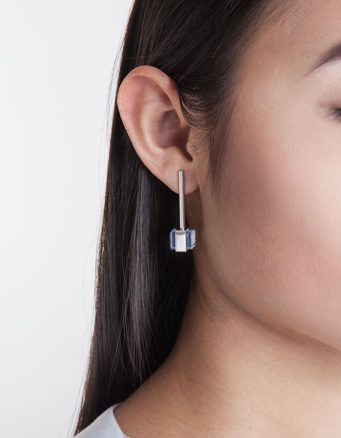 CUBE No2 earrings profile detail by Katerina Reich