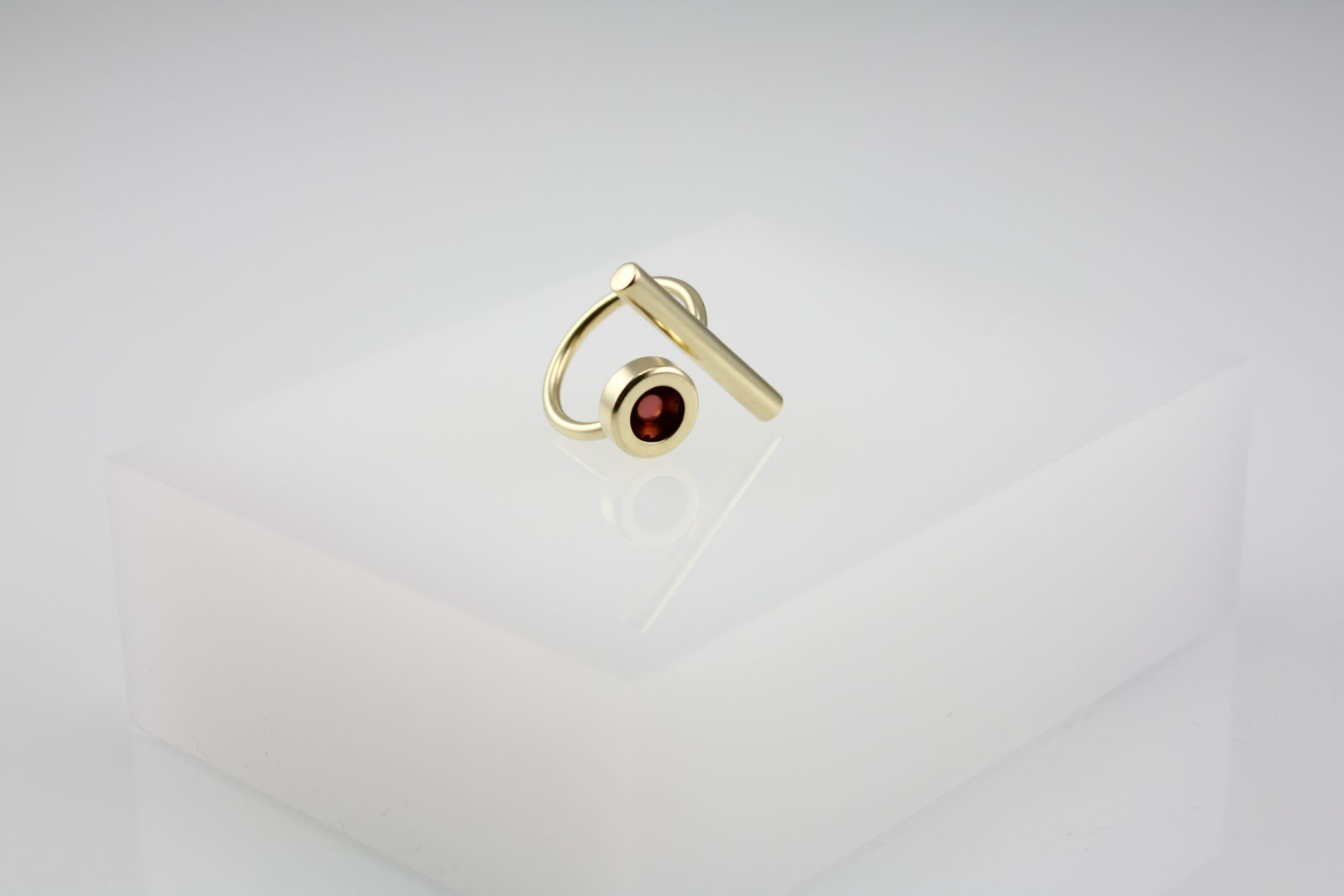 Kyō stick ring / gold-plated